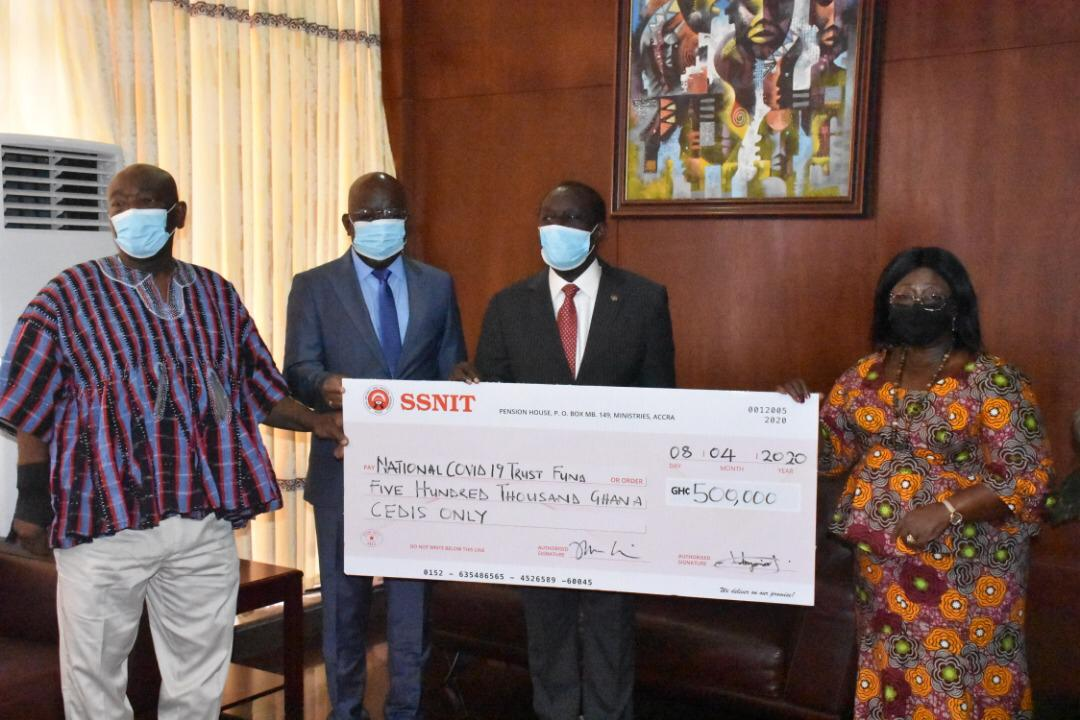 SSNIT Donates GHS 500,000 to COVID-19 National Trust Fund – Home ...